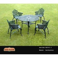 vintage cast aluminum outdoor garden chair set - Garden Furniture Delhi