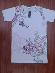 Ladies Big T Shirt Chest Print