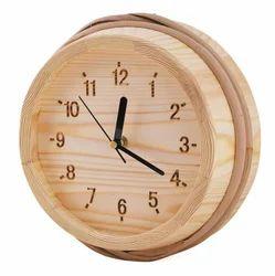 steamers Sauna Wooden Clock, Anmy