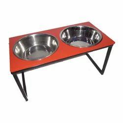 Wooden Double Diner Pet Bowls