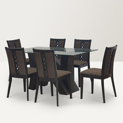 Glass Dining Table Glass Table Chairs Manufacturers Suppliers - 6 seater round glass dining table