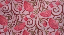 Open Big Flower Printed Cotton Fabric