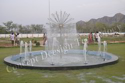Dandelion Fountain with Foam Effect