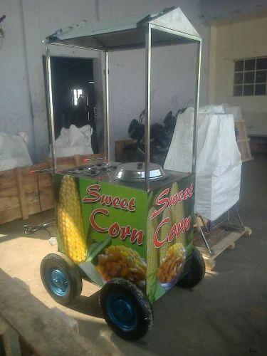 Sweet Corn Machine Trolly Type