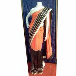 Patch Work Jacquard Saree