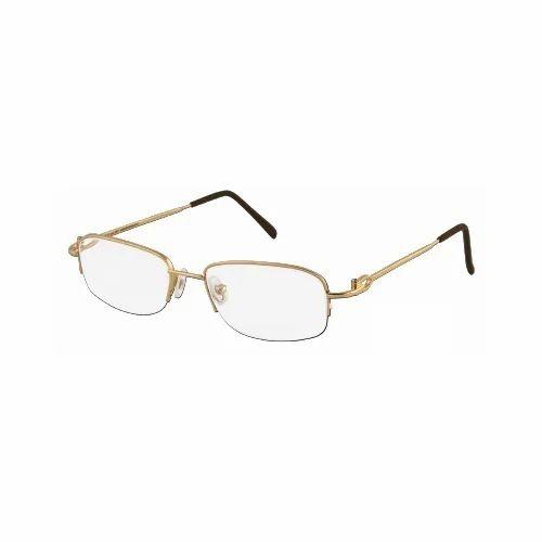 Half Rim Gold Spectacles Frame - Half Rimmed Glasses Gold Frame ...