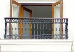 Silver Aluminium Cast Iron Balcony Grills, For Home
