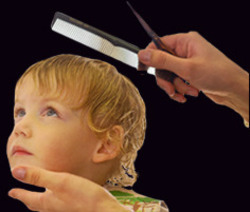 Babies Hair Cutting