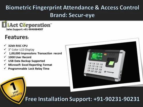 Secureye Standalone Biometric Attendance System - IAct Technologies