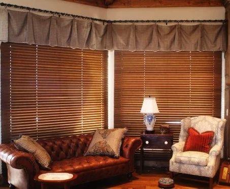 Slat Natural Wood Wooden Blinds Rs 350
