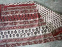 Cotton Saree in Bagru Print