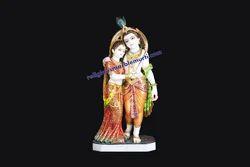 Stone Statue Radha Krishna
