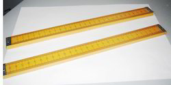 Wooden Ruler with Brass End