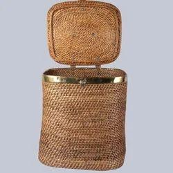 Cane Rectangular Laundry Basket
