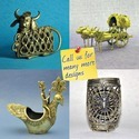 Golden Dhokra - Bell Metal - Decorative Animals Theme Arifacts, For Home Decoration, Size/dimension: Custom