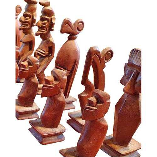 Easter Island Chess Set Exporter From New Delhi