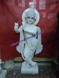 Makrana White Marble Krishna Statue