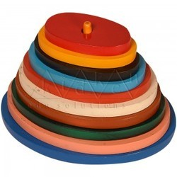 Oval Pyramid / stacking tower / shape stacker / Wooden shape stacker