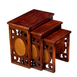 Nested Table - Wooden Nested Tables Exporter from Jaipur