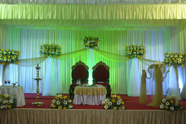 Wedding stage and hall decoration in chengannur sajeny herbel wedding stage and hall decoration junglespirit Gallery