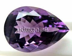 Amethyst Faceted Pear Cut Gemstone
