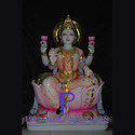 Gold Plated Marble Lakshmi Statue