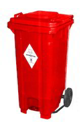 Waste Bin With Foot Pedal And Wheel