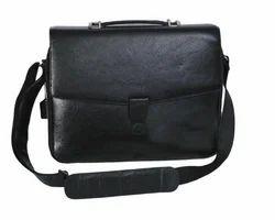 Leather Black Color Office Bag
