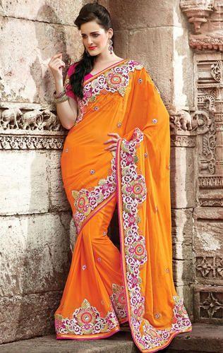 22d5c0dbf1 Designer Sarees - Chiffon Party Wear Saree Wholesaler from Mumbai