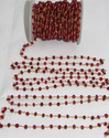 Smooth Dyed Ruby Bead Chain,Wire Wrapped Ruby Bead 4-5m