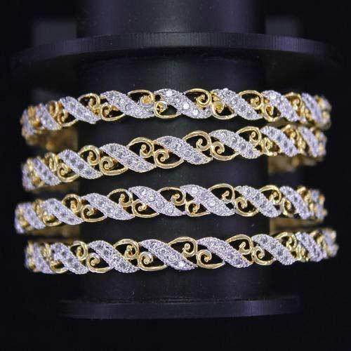 American Diamond Stone Bangles at Rs 880 piece