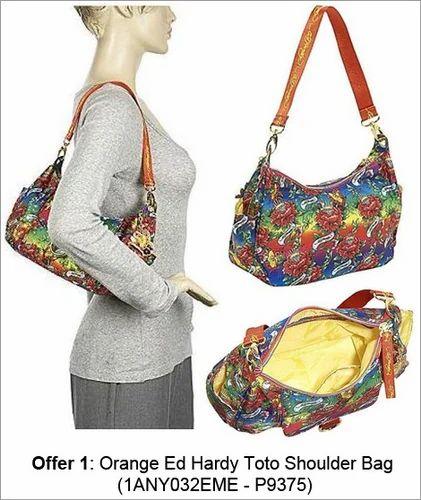 Orange Ed Hardy Toto Shoulder Bag b66c6ca40104b