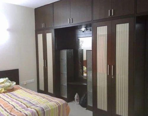 Double Door Wardrobe With Miror