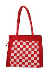 Checks Jute Bag