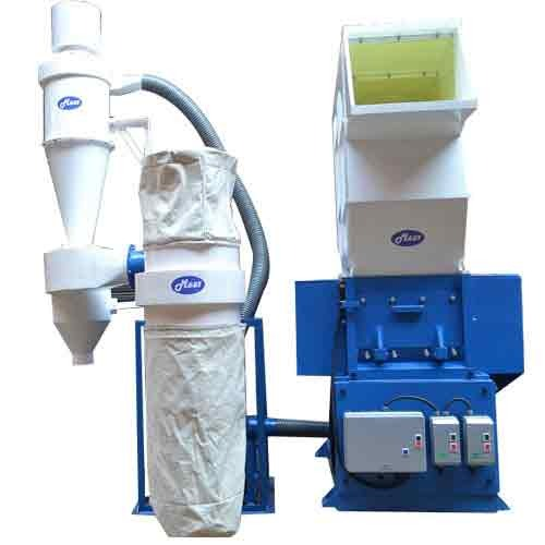 Recycling Plastic Blower : Granulator with blower dust collector manufacturer from