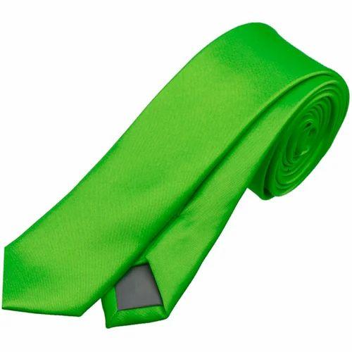 Green Color Tie