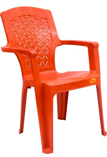 Orange Standard CHR 3003 Diamond Net Plastic Chair, Usage: Indoor, Outdoor