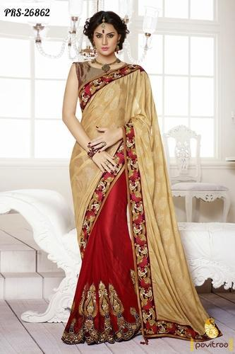 207ad1ff6 Designer Party Wear Sarees - View Specifications   Details of ...