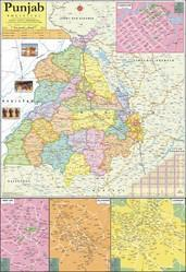 Punjab Map, Size: 100 X 70 Cm