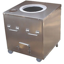 Stainless Steel Mobile Square Tandoor