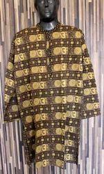 Om Hare Rama Hare Krishna Long Kurta Shirt Casual Gauz