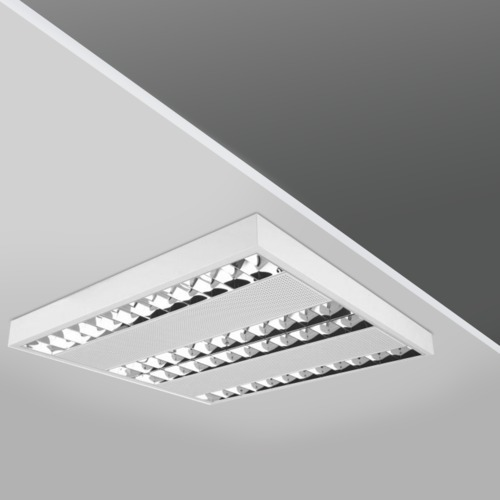 Parabolic surface mounted luminaires