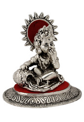 White Metal Laddu Gopal Statue