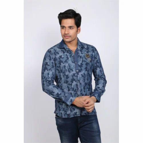 887f60ad528 Denim Printed Shirt at Rs 350  pieces