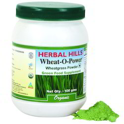 Natural and Vegan Organic Wheatgrass Green food Powder - 100 gms