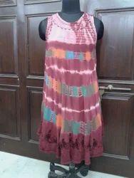 Tie & Dye Embroidery Dress