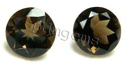 Smoky Quartz Faceted Round Cut Gemstone