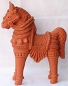 Clay Antique Horse Model