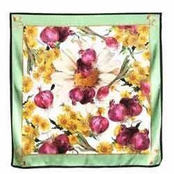 Flower Print Satin Fabric