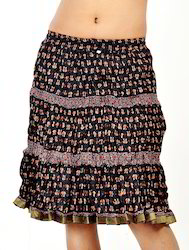 Designer Pure Cotton Short Skirts